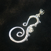 Load image into Gallery viewer, Sterling Silver Seahorse - Crystals