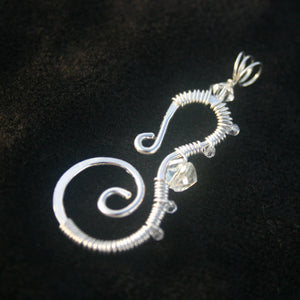Sterling Silver Seahorse - Crystals