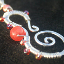 Load image into Gallery viewer, Sterling Silver Seahorse - Corals