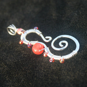 Sterling Silver Seahorse - Corals