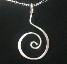 Load image into Gallery viewer, Hammered Swirl - Sterling Pendant