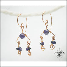 Load image into Gallery viewer, Amethyst Chandelier Earrings - Jewelry Hand Made