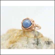 Load image into Gallery viewer, Copper and Stone Handmade Ring - Jewelry Hand Made