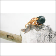 Load image into Gallery viewer, Copper Jasper Handmade Ring - Jewelry Hand Made