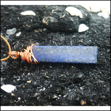 Load image into Gallery viewer, Copper n Cobalt Necklace - Jewelry Hand Made