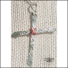 Load image into Gallery viewer, Hand Hammered Sterling Cross Neckalce - Jewelry Hand Made
