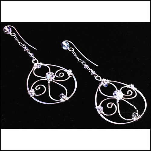 Oval Drop Filigree Earrings - Jewelry Hand Made