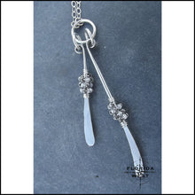 Load image into Gallery viewer, Silver Dance Necklace - 16 - Jewelry Hand Made