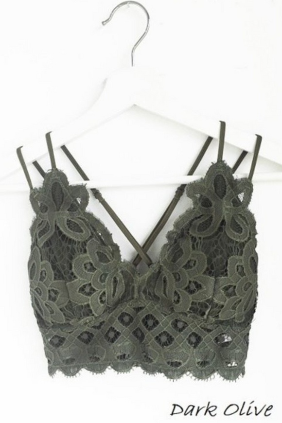Brooklyn Bralette in Dark Olive (Curvy Size)