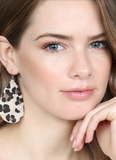 Brown Leopard Teardrop Earrings