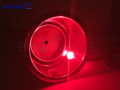 LED Red S.S. Cup Drink Holder w/ Drain USA BL99311358 - Blue Whale Marine Hardware