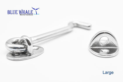 "316 Stainless Steel Eye Bolt Hook Latch/Catch 3-1/2"" Cabin Hooks USA BL32551056-Blue Whale Hardware - Blue Whale Marine Hardware"