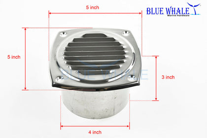 "Hose soffit Vent for 4"" Dia. Hose  home depot dryer vent - Blue Whale Marine Hardware"