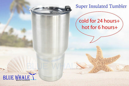Tall Coffee Mugs Dual Insulated Tumbler Steel Coffee mugs - Blue Whale Marine Hardware