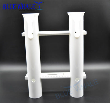 White Plastic Fishing Tube Rod Holder Rack-2 Link USA BL99600220 - Blue Whale Marine Hardware