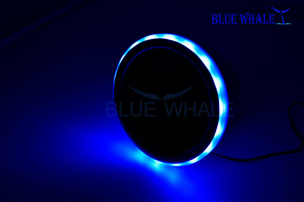 LED Light Ring Blue Stainless-Steel Cup Drink Holder w/ Drain BL99310757