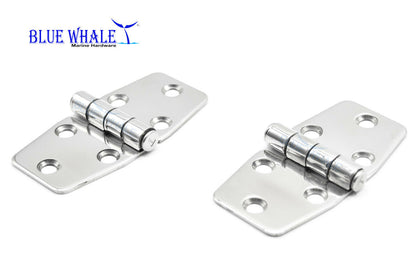 2PCS S.S. Polished Door Butt Hinge 3