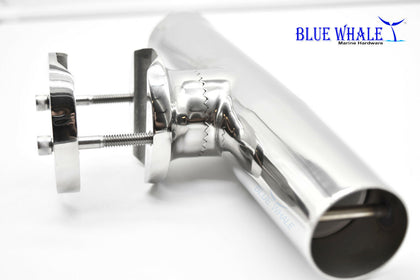 Luxury Clamp-on Fishing Rod Holder for Rail clamp on rod holders - Blue Whale Marine Hardware