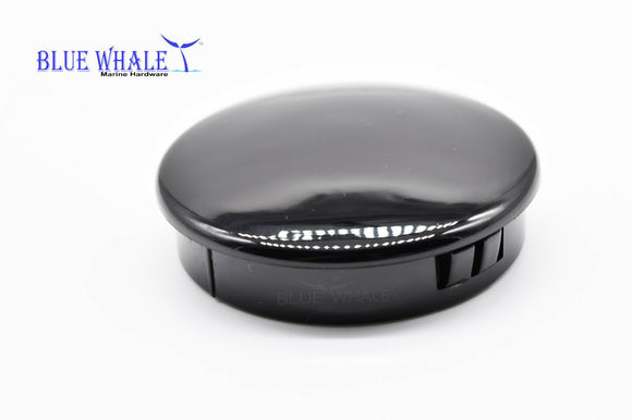 Marine Blue Whale Plastic Boat PC 2-1/2 Inches Stainless Steering Wheel Center Cap Black - Blue Whale Marine Hardware