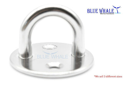 S.S. Thick Ring Round Sail Shade Pad Eye (M) USA BL32580665 - Blue Whale Marine Hardware