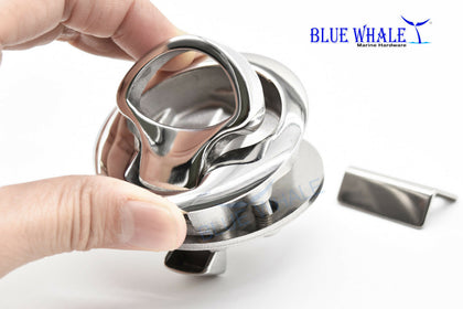 "2PCS 2"" Round 316 S.S. Hatch Flush Pull Slam Latch US BL31510288 - Blue Whale Marine Hardware"