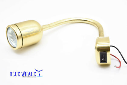 2 PCS Brass Cabin/Reading/Chart MR-16-3W LED Light USA BL29230386 - Blue Whale Marine Hardware