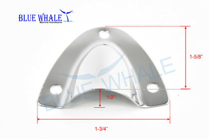 10pcs BLUE WHALE Midget Clam Shell Vent / Wire Cable Cover 1-5/8