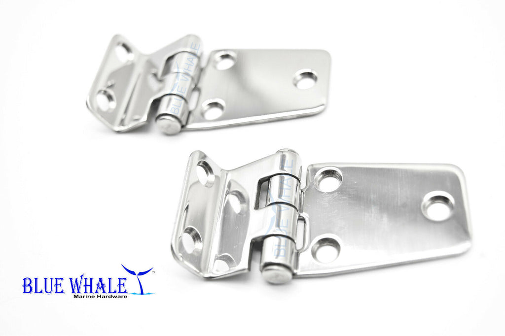 "2PCS BLUE WHALE Stainless Steel 5 Holes Short Side Offset 2-5/8"" ×1-7/16"" Hinge"