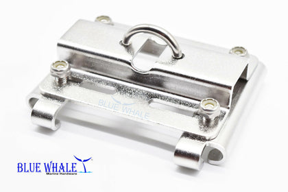 Vertical Stanchion Rail Mount Anchor Bracket Holder Port and Starboard - Blue Whale Marine Hardware