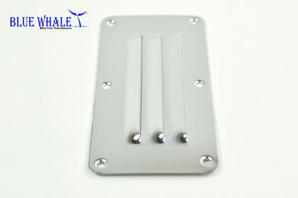 "2PCS BLUE WHALE Marine Stainless-Steel Rectangle Louvered Vent (2-1/2"" × 5"") USA - Blue Whale Marine Hardware"