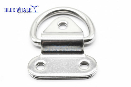 "Deck D Shape Ring Pad Eye (2"" ×2-1/4"") USA BL29510126 - Blue Whale Marine Hardware"