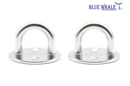 2PCS S.S. Thick Ring Round Sail Shade Pad Eye (M) BL32580665 - Blue Whale Marine Hardware