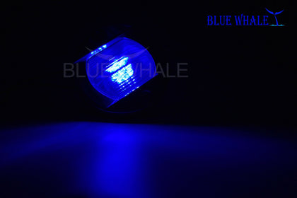 Best and Reliable Home Depot Lighting | Waterproof Flush Mount Caution Blue LED - Blue Whale Marine Hardware