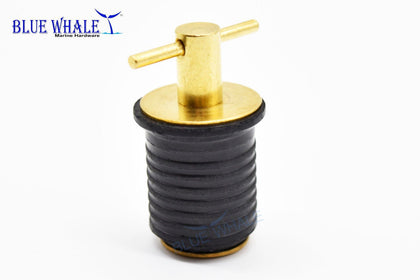 Brass Twist Handle Drain Plug (1- Inch), Magnetic Oil Drain Plug For Boat BL29230170 - Blue Whale Marine Hardware