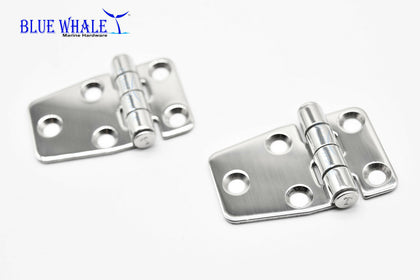 "2PCS S.S. Short Sided Strap Hinge (2.2"" ×1.5"") US BL74510122 - Blue Whale Marine Hardware"