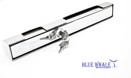 2PCS S.S. Outboard Engine Lock w/ Keys USA BL29510105 - Blue Whale Marine Hardware