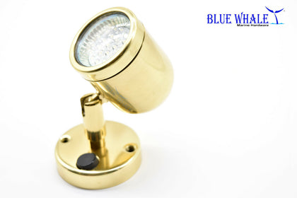 Brass Swivel Head Puck Lights and LED Puck Lights | Puck Lights for Cabinets - Blue Whale Marine Hardware