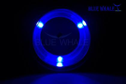 4PCS 3 Blue LED S.S. Drink Cup Holder &Drain BL99310257 - Blue Whale Marine Hardware