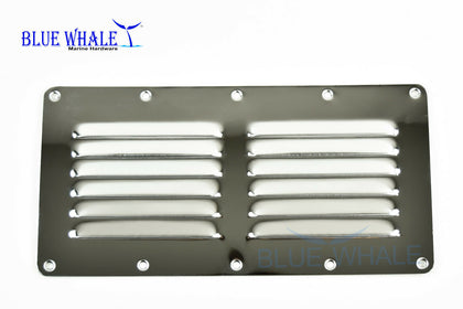 "2PCS BLUE WHALE Marine Stainless Steel Rectangle Louvered Vent (9-1/8"" × 5"") USA - Blue Whale Marine Hardware"