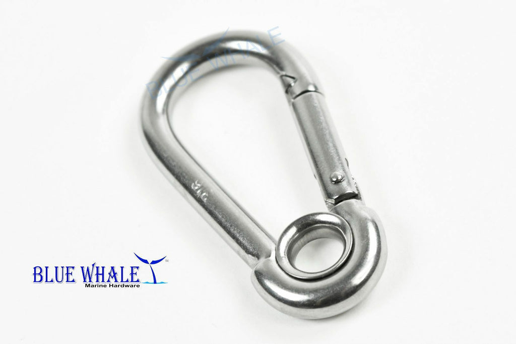 "2PCS 316 S.S. Carabiner Snap Hook w/ Ring (A:2"") US BL31700594"