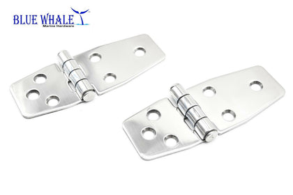 "2PCS S.S. Short Sided Door Hinge (Size:3-7/8"" ×1-1/2"") BL74510136 - Blue Whale Marine Hardware"