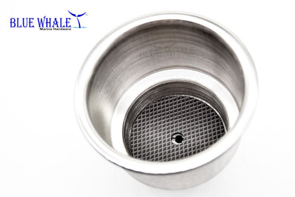 2PCS Stainless Steel Holders Use As Cup Holder With Center Drain Hole BL96573082 - Blue Whale Marine Hardware