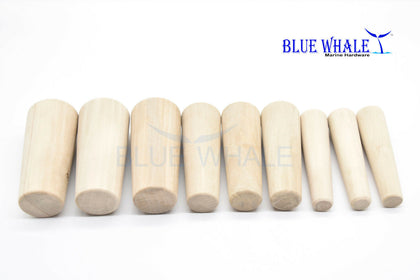 2 PCS  Tapered Conical Thru-hull Soft Wood Plugs Set of 9 pcs 3 Sizes BL29576531 - Blue Whale Marine Hardware