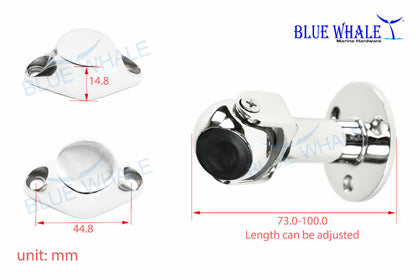316 S.S. Adjusting Magnetic Ball Door Stopper Holder Set BL04530442 - Blue Whale Marine Hardware