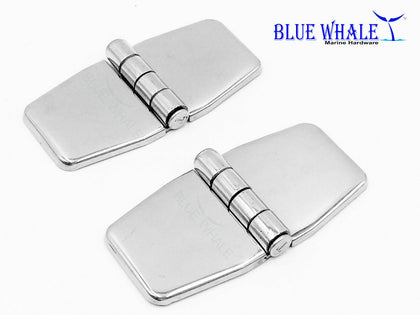 2PCS Stainless Steel Covered Strap Hinge with Cover Caps 3
