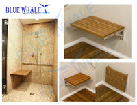 Slatted Bed Base and Folding Bench Seat, Flip Bench Shower Teak Board for Boat BL31122499