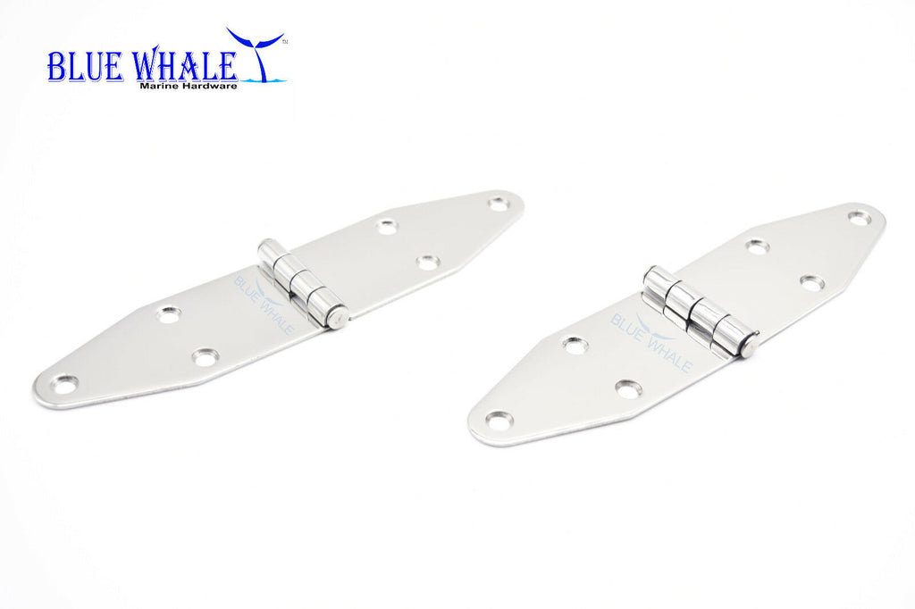 "BLUE WHALE 304 Stainless-Steel 6 Point Fixing Door Strap Hinge 7""×1.6"" (A PAIR)"