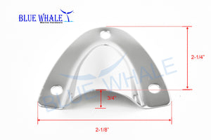 "Midget Vent, Midget Clam Shell Vent Wire Cable Cover In 2-1/8"" ×2-1/4"" × 3/4"" For Boat - Blue Whale Marine Hardware"