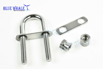 U Clamp for U shape Bolts | Square U Bolts and Clamps | U shape Snaps - Blue Whale Marine Hardware