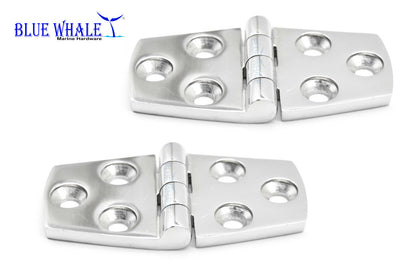 "2PCS 316 S.S. Hatches Door Strap Hinge 1.5""×3"
